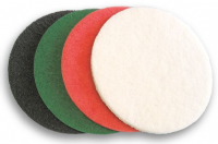 Non woven abrasive pads for cleaning and polishing